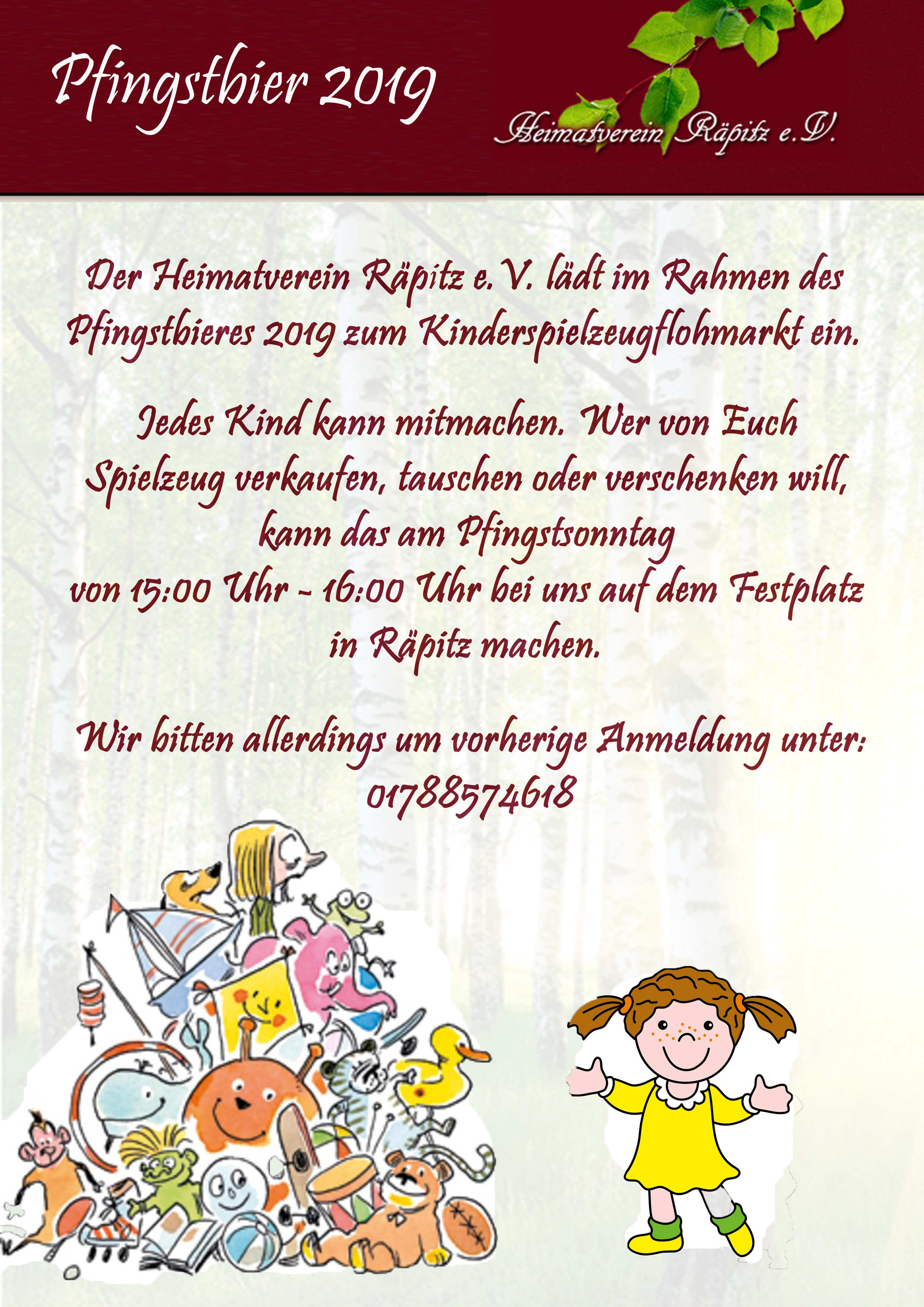 Flyer Kinderflohmarkt